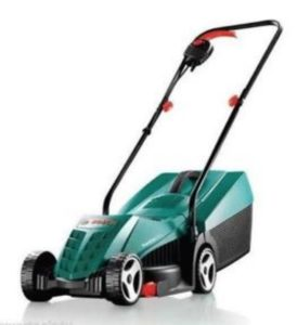 30cm Cutting Width Charles Bentley Manual Hand Push Lawn Mower With 16 Litre Grass Collection Bag